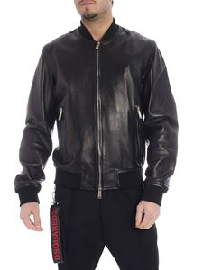 Dsquared2 - Dsquared2 bomber jacket in black leather