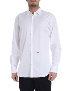 Dsquared2 - Shirt in white cotton with logo