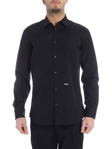 Dsquared2 - Dsquared2 shirt in black cotton with logo