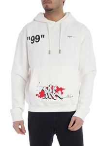 Off-White - Dondi Bus hoodie in cream-colored cotton