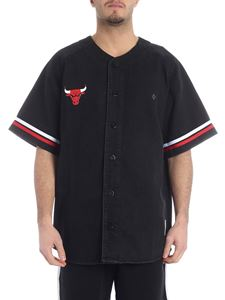 Marcelo Burlon - Bulls shirt in black denim