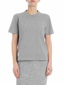 Thom Browne - Thom Browne heather grey t-shirt with logo