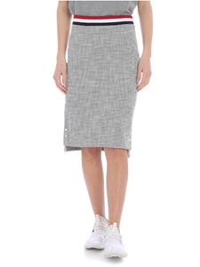 Thom Browne - Thom Browne skirt in gel and white with vents