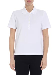 Thom Browne - White polo with Thom Browne logo details