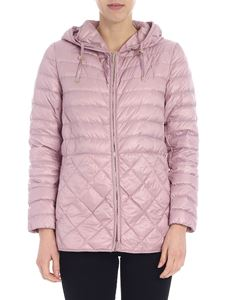 Max Mara - Etres hooded down jacket in pink