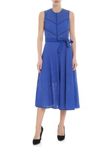 Pinko - Celibe dress in blue rebrode lace