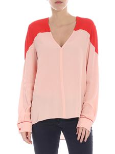 Pinko - Abbonato blouse in pink and red