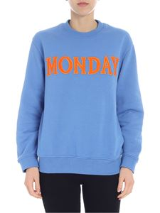 Alberta Ferretti - Monday light-blue sweatshirt