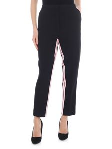 N° 21 - N21 black trousers with pink side bands