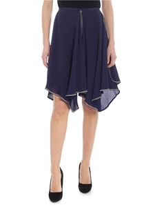 See by Chloé - See by Chloe blue skirt with ruffles