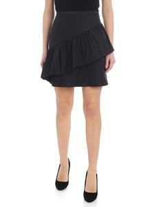 See by Chloé - Mini skirt in black taffeta with ruffles