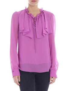 See by Chloé - Cyclamen colored blouse with ruffles