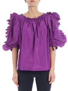 See by Chloé - Purple blouse with ruffles and curls