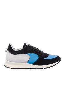 Philippe Model - Montecarlo L black and blue sneakers