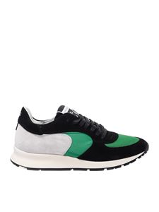 Philippe Model - Montecarlo L black and green sneakers