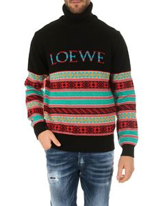 Loewe - Black and multicolor jacquard sweater