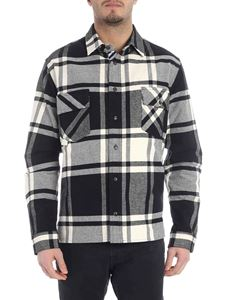 Off-White - Stencil check shirt in black and white