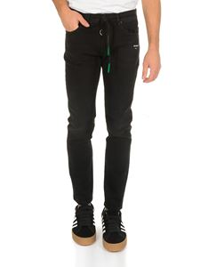 Off-White - Skinny Short Lenght jeans in black