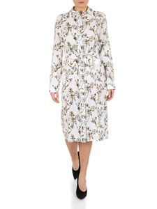 Off-White - Off-white floral printed viscose dress