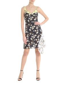 Off-White - Off-White Love floral printed black dress