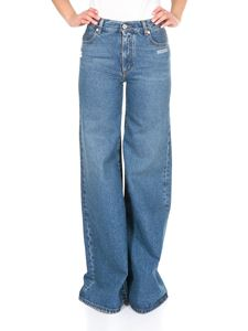 Off-White - Off-White straight leg jeans in blue denim