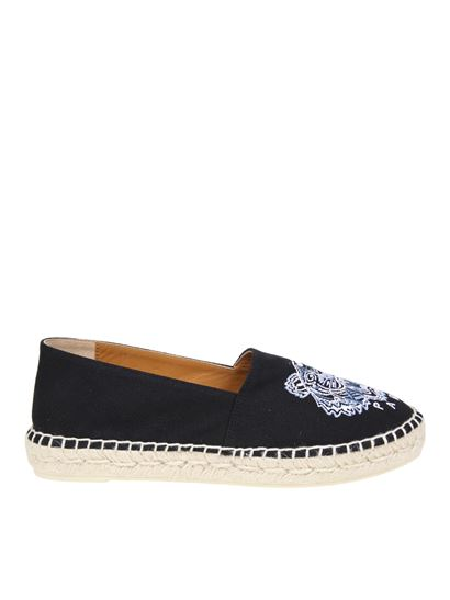 Kenzo - Tiger black and blue espadrilles