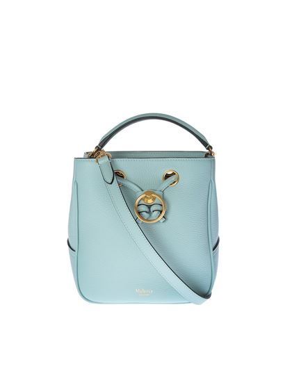 Mulberry - Small Hampstead bucket bag in light blue
