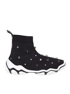 Red Valentino - Black stretch sneakers with studs