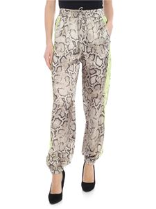 Pinko - Leda trousers with reptile print