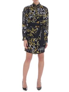 Versace Jeans - Viscose twill dress with logo print