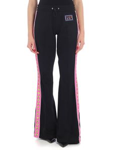 Versus Versace - Black trousers with pink and green side bands