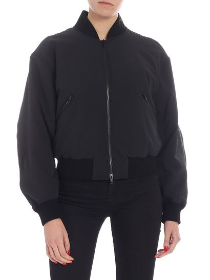 Versus Versace - Black padded bomber with multicolor logo