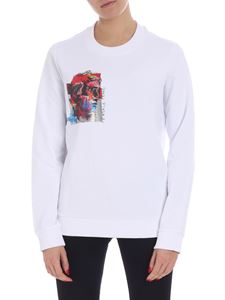 Versace Jeans - White crewneck sweatshirt with multicolor print