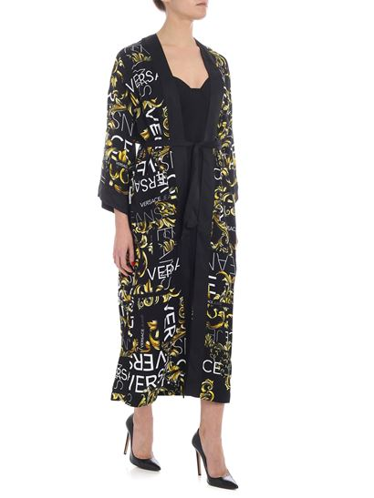 Versace Jeans - Black coat with yellow and white prints