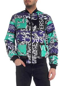 Versace Jeans - Multicolor bomber with white logo motif