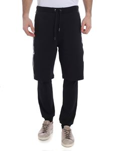 Versace Jeans - Leggins nero con bermuda applicato