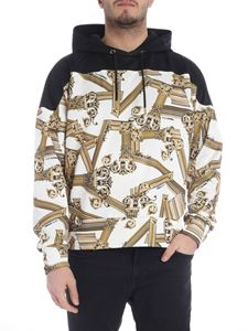 Versace Jeans - Black and white printed sweatshirt