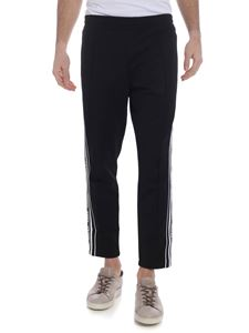 Versus Versace - Black trousers with white side bands