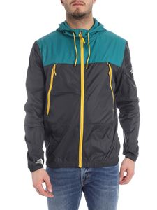 The North Face - Gray and green jacket with logo