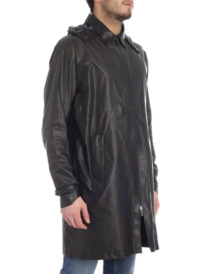 Herno Laminar - Black coat with hood