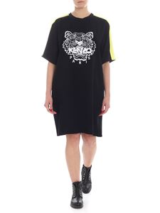 Kenzo - Tiger black dress with dropped sleeves