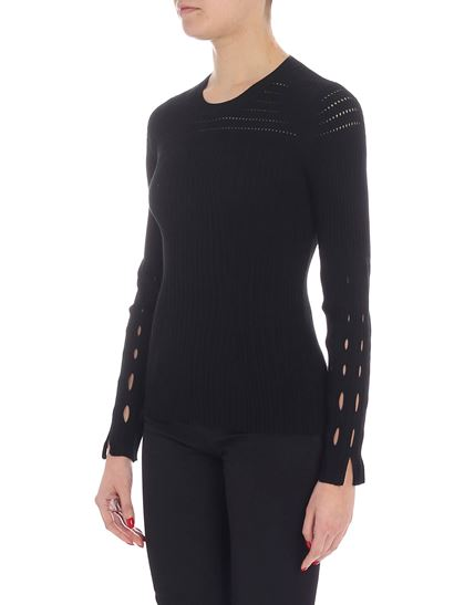 Kenzo - Black sweater with pierced details
