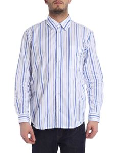 MSGM - Striped white shirt straight fit