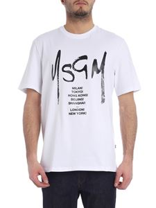 MSGM - Tour white T-shirt with logo