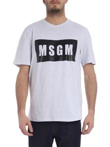 MSGM - Gray t-shirt with box logo