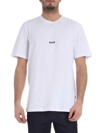 MSGM - White t-shirt with micro logo