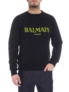Balmain - Black sweatshirt with contrasting logo