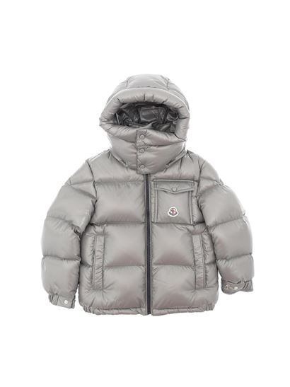 Moncler Jr - Montbeliard hooded down jacket in grey