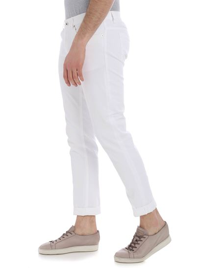 Dondup - George jeans in white cotton