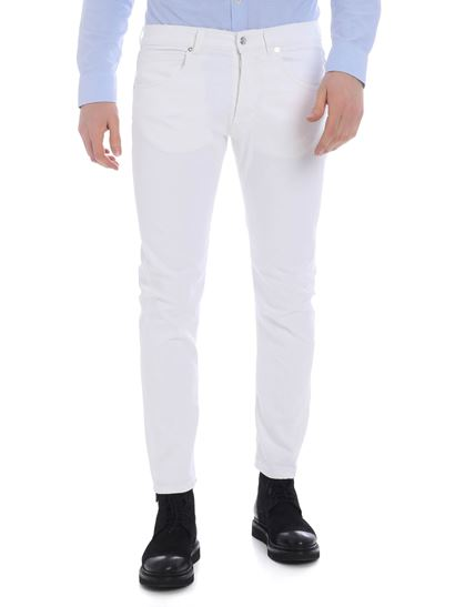 Nine in the morning - Rock jeans in white cotton